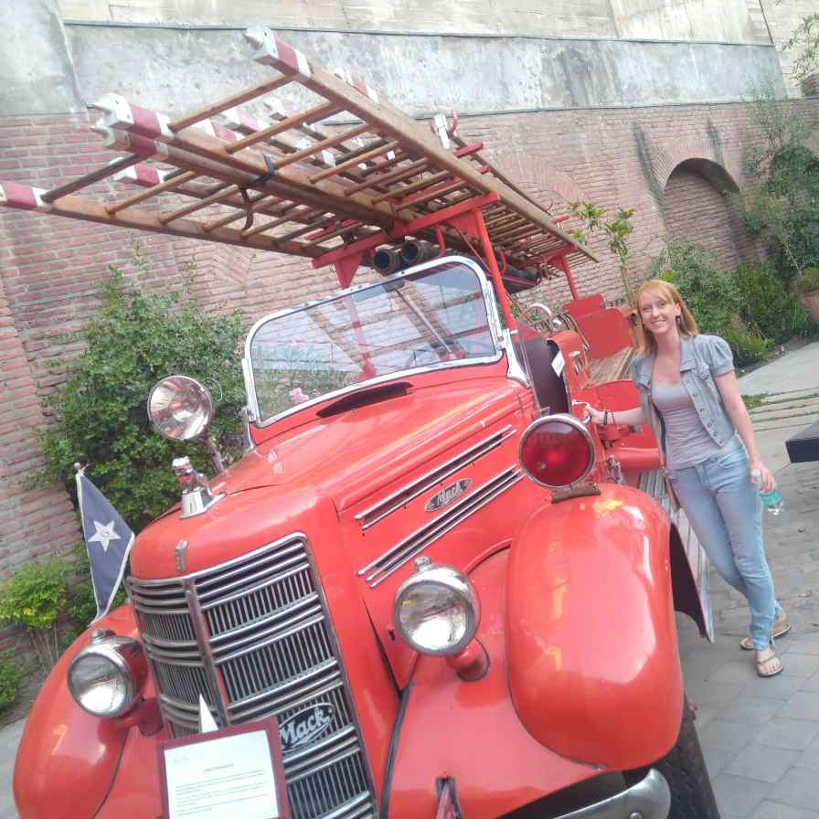 Exploring the fire fighters headquarters in Santiago