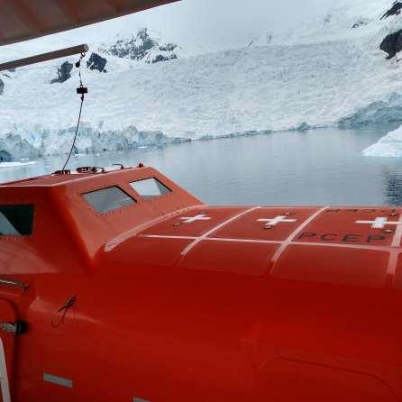 The Hondius' lifeboats